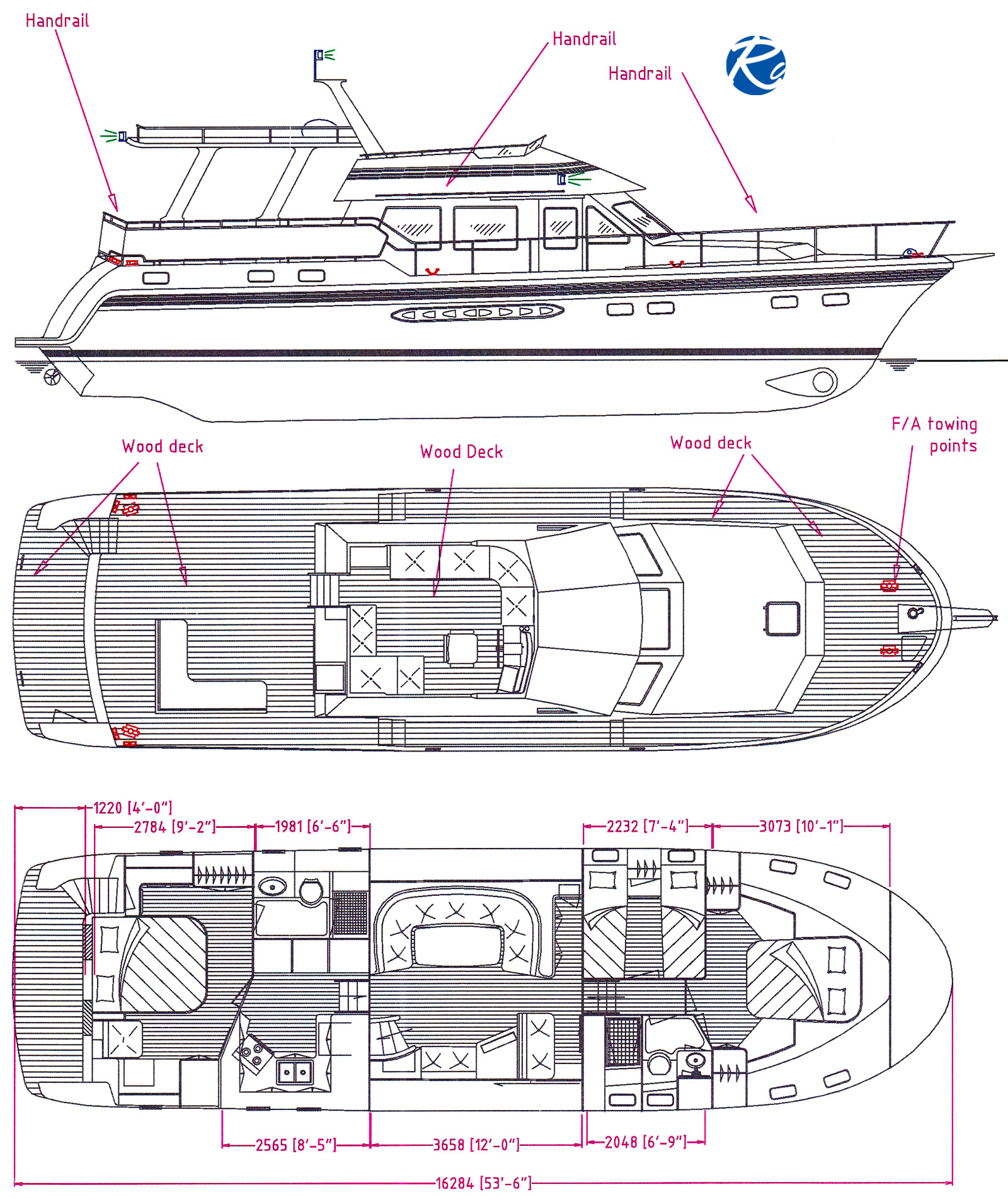 Trader 535 Signature Layout Plan aller Decks