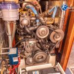 Hier der laufende Motor einer Bianca 360